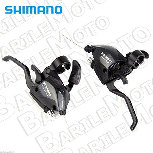 SHIMANO Manettini cambio st-ef 3x7 Velocità (Coppia) (Comandi Mtb) / Shifters st-ef 3x Speed (pair) (Mtb Shifters)