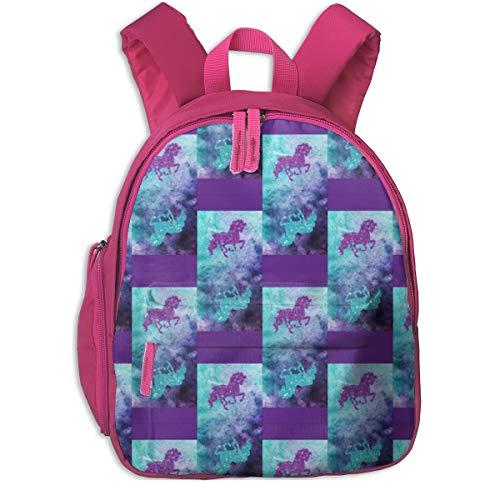 Kinderrucksack für Mädchen, Unicorn Goodie Bag_3417 - Lambandewecrafts, Für Kinderschulen Oxfordstoff (pink)