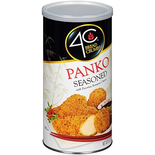 4C Premium Bread Crumbs | Regular & Gluten Free | Flavorful Crispy Crunchy | Value Pack (Panko Seasoned, 1pk)