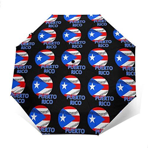 Puerto Rico - Paraguas de béisbol automático de tres pliegues para sombrilla