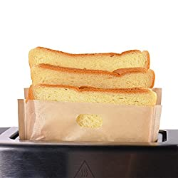 Image: Toaster Bags Willceal | Non Stick Reusable, Reusable and Heat Resistant | s can be used in toaster, grill, oven or microwave. It can keep your machines free of crumbs
