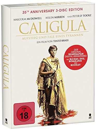 Tinto Brass' Caligula - Aufstieg und Fall eines Tyrannen - Das Original (35th Anniversary Special 3-Disc Edition, Digipak mit Schuber u. Goldprägung + 40 seitiges Booklet) [DVD + Blu-ray] [Alemania]