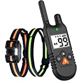 Whousewe Dog Training Collar with Remote Rechargeable IP67 Waterproof Shock Collars 3000Ft Control for Large Medium Small Dogs from 9 to 140 lbs with Beep Vibrate Safe Shock Mode