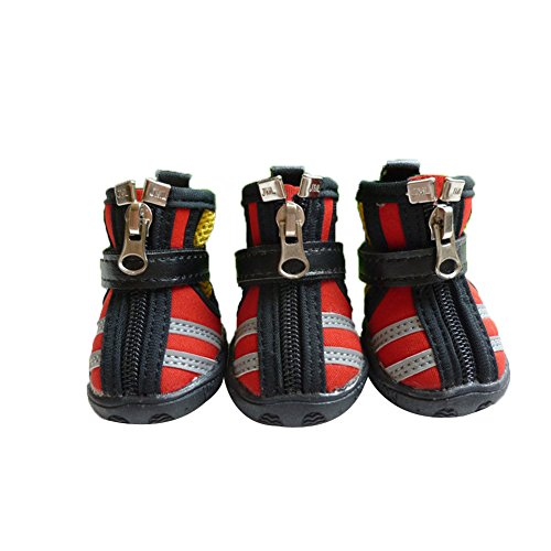 Moolecole Breathable Mesh Pet Shoes Anti-Skid Sole...