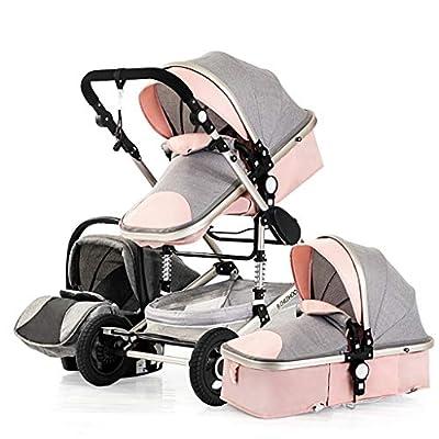 XYSQ Sistema De Viaje para Bebés 3 En 1, Cochecito De Bebé, Cochecito Recién Nacido Baby Shuschchair Alto Paisaje, Cochecitos De Bebé para 0-36 Meses Carro De Bebé (Color : Brown)