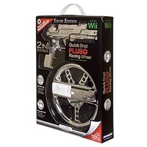dreamGEAR Nintendo Wii Race and Shoot Bundle (silver)