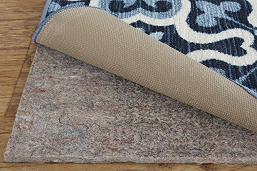 """Mohawk Home Dual Surface Felt and Latex Non Slip Rug Pad, 1/4"""" Thick, 8'x8', Gray"""