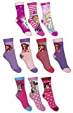 Dealzone 10er Pack Socken Kinder Jungen Mädchen Strümpfe Mix 31-34 / Mädchen