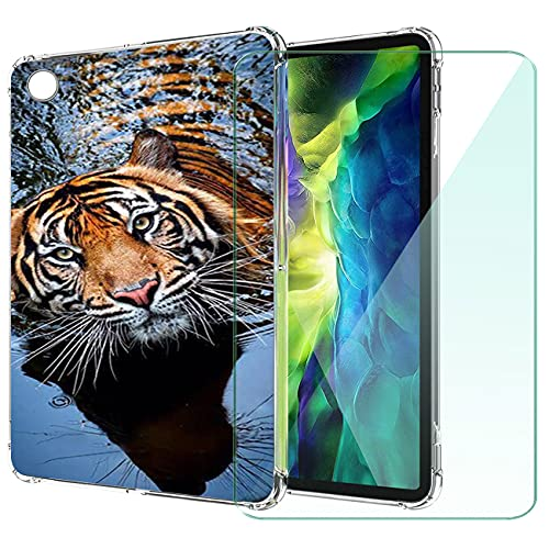 WANCJX Transparente Tablet Funda Compatible para Lenovo Tab M10 HD 2nd Gen (10.10 Pulgada) Carcasa + [1 Pieza] Cristal Templado Film,Antigolpes Caso Cover,HD Cristal Templado Membrana-JX8
