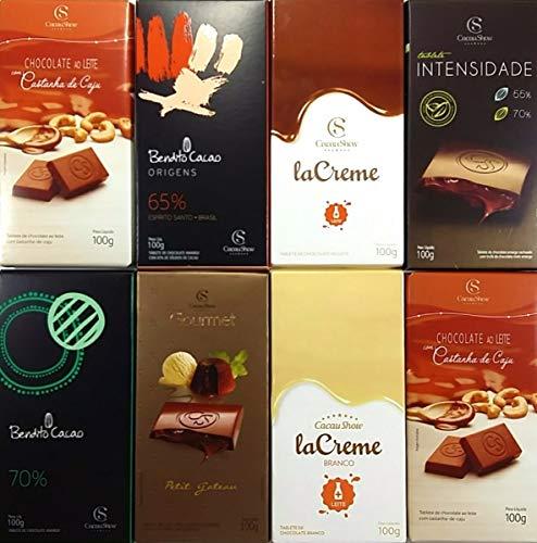 Kit Com 8 Barras Chocolates Cacau Show