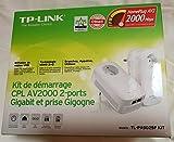 TP-LINK AV2000 - Adaptadores de Red Powerline (FR plug, 2000 Mbit/s Ethernet, 2 piezas) color blanco