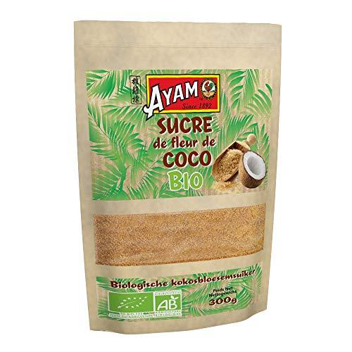 AYAM Sucre de Coco Bio   100% Naturel   100% sucre de fleurs de cocotier   Haute Qualité   Riche en vitamines et minéraux   Alternative au sucre classique   Sans additifs   Sans conservateurs - 300g