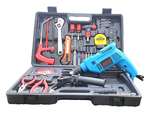 Cheston Powerful 13 mm Impact Drill Machine Cum Screwdriver Kit with 101 Pieces Tool Accessories for Drilling; Screw-Driving (TZ-101UF) (TZ_101)