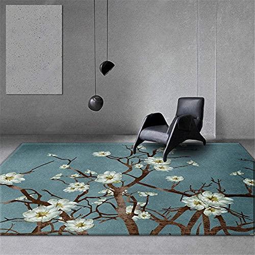 tappeto soggiorno blu cristallo velluto tappeto stile cinese rettangolare moderno soggiorno decorazione camera arredamento lavabile tappeti antiscivolo 120X200CM 3 piedi 11.2 'X 6ft 6 '