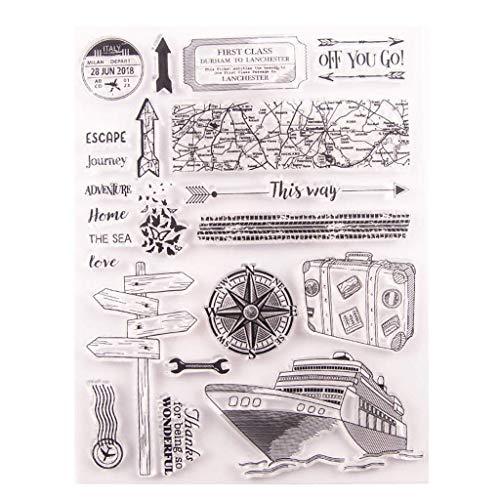Sello de silicona transparente para álbumes de recortes, álbum de fotos, papel decorativo para manualidades, manualidades, regalo creativo y exquisito