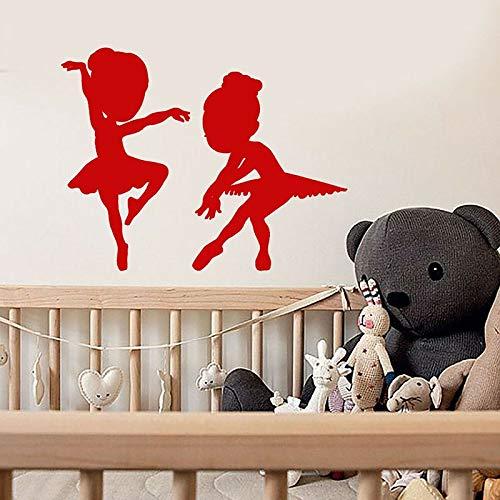 Bailarina nia etiqueta de la pared bailarina silueta puertas y ventanas pegatinas de vinilo estudio de ballet escuela nia habitacin decoracin de la casa