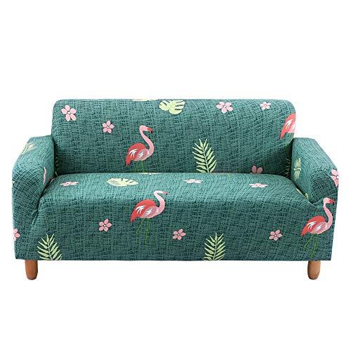 HOTNIU Elastischer Sesselbezug Stretch Sofa-Überwürfe Sofaüberzug Sesselhusse Sofabezug Sofa Abdeckung Hussen für Couch Sessel in Verschiedene Größe und Farbe (2 Sitzer, Muster HLN)