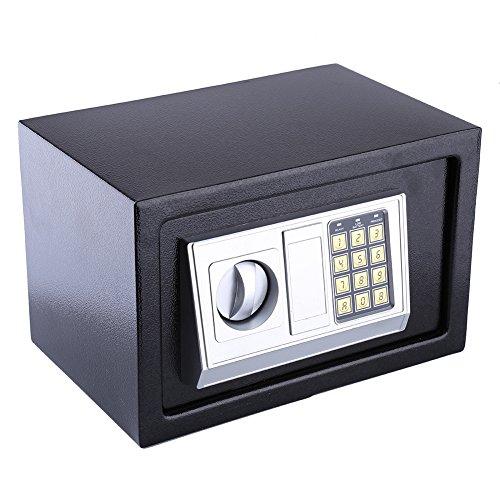 Ejoyous 8,5-Liter-Safe, digitaler Safe zur Aufbewahrung von Bargeldschmuck Schlüsselbund, Zahlenschloss Safe LED-Licht Aufladen mit Batterie