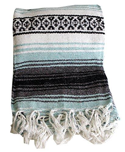 Canyon Creek Mexican Style Falsa Yoga Blanket (Sea Green)