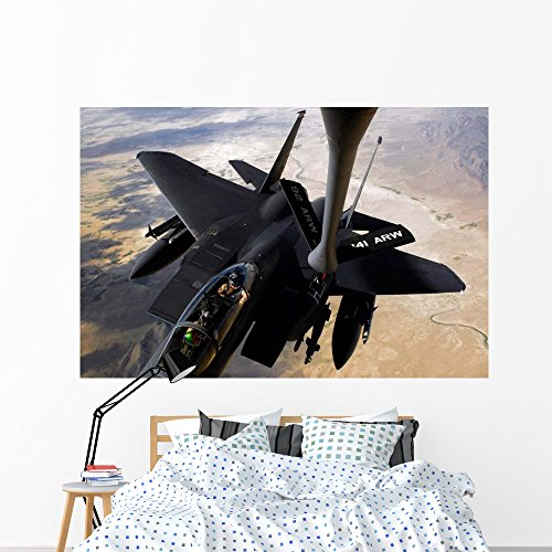 Wallmonkeys F-15e Strike Eagle Aircraft Wall Mural Peel and Stick Graphic (72 in W x 48 in H) WM81549