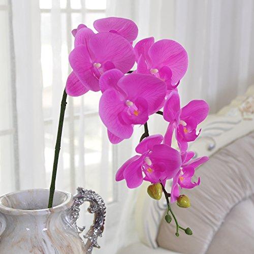 ZHUDJ La Polilla Orchid Flores Artificiales Flores Secas Flores De Seda Decoración Floral Salón Alto Piso Adornos Flor Única Orquídea, Adiós Mi Concubina, Malva