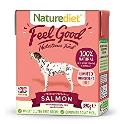 NUTRITIONALLY BALANCED - This complete and nutritionally balanced natural dog food contains all the essential nutrients your dog needs for a healthy diet. Made with freshly prepared Salmon, white fish and wholefoods. 100% NATURAL INGREDIENTS FOR GENT...