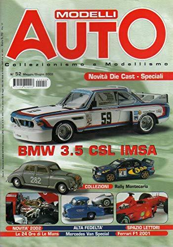 Modelli Auto 52 mag-giu 2002 BMW 3.5 CSL IMSA Daytona-Ferrari Montecarlo F1 2001