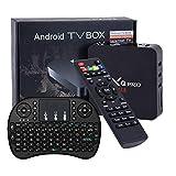 MX Pro 4K Android 7.1 TV Box 1GB 8GB RK3229 Quard-core Wi-Fi Embedded UHD 4K H.264 Media Center Smart OTT TV Box Android Mini PC with Wireless Keyboard Remote TTV Box