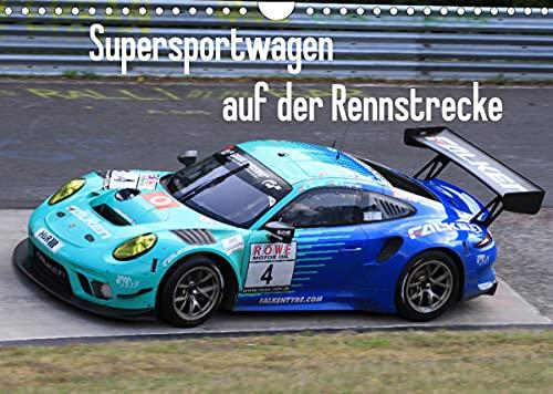 Supersportwagen auf der Rennstrecke (Wandkalender 2022 DIN A4 quer)