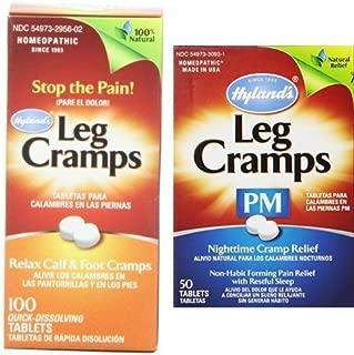 Hyland's Leg Cramp Tablets & Night Time Leg Cramp Tablets PM Bundle, Natural Cramp Relief Medicine, 150 Tablets