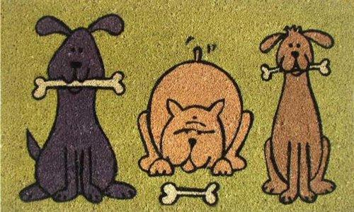 Calloway Mills Doggie Fun 17'x29' Coir with Vinyl Backing...