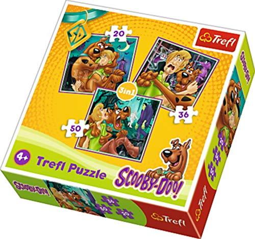 Trefl - Puzzle de Madera Scooby Doo de 3 Piezas