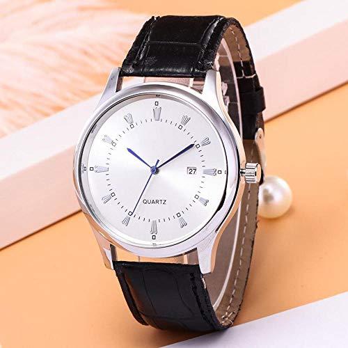 YXXERSHI zakenmannen casual kwarts enkele kalender herenhorloge-D