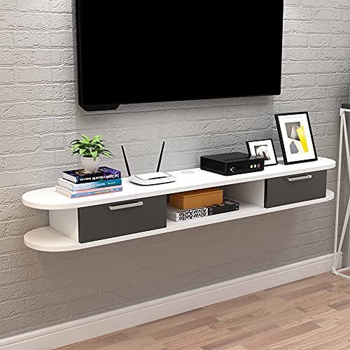 Mueble TV de Pared, Sala de Estar Dormitorio Mueble de TV Flotante, Unidad de TV para Apartamento PequeñO Y Simple Estante de Almacenamiento Multimedia/B / 150cm
