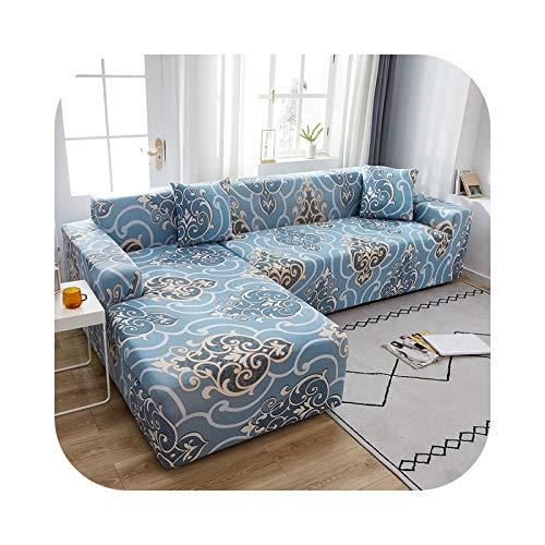 Sofa Covers - Copridivano 1 2 3 4 posti, coperta semplice elasticizzata di serie a stampa floreale, per soggiorno, poltrona elastica, 190 - 230 cm, 1 pezzo
