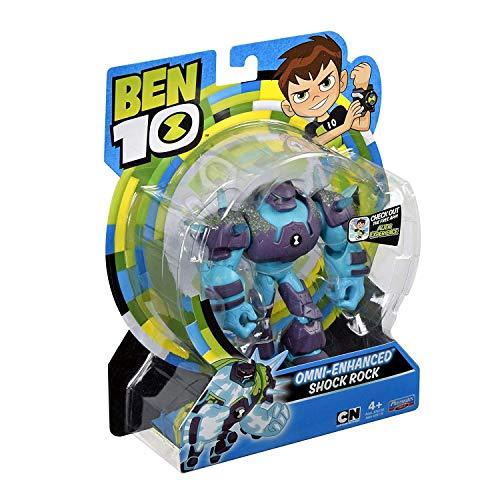Ben 10 Omni-Enhanced Shockrock Action Figure, Multicolor (76115R)