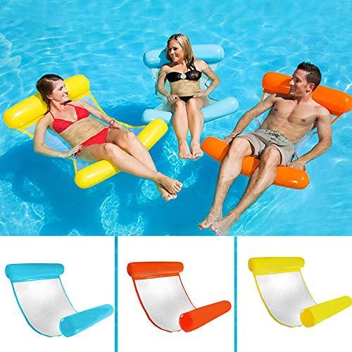 Duoying Hamaca inflable de agua, piscina, playa, reclinable flotante, cama flotante, silla para adultos