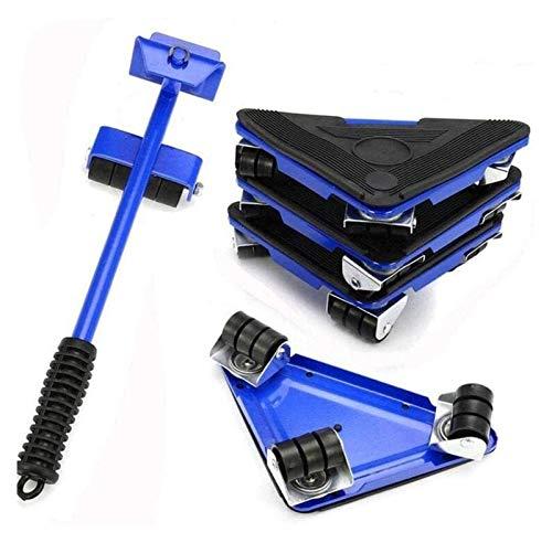 Levantador de muebles Transporte Herramientas 1 barra de elevación y 4 diapositivas de muebles perfectas para armario (Color : Blue, Size : 34.5cm)