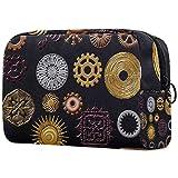 Bolsa de maquillaje Steampunk Gears para mujer, bolsa de maquillaje con cierre