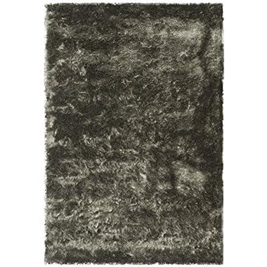 Safavieh Paris Shag Collection SG511-8383 Titanium Polyester Area Rug (4' x 6')