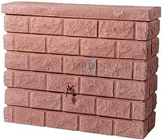 DEPOSITO imitación muro piedra de arena 400 LITROS + Grifo. Ancho 120 cm, Profundidad 40 cm, Alto 100 cm
