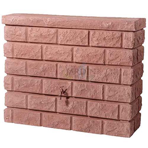 Suinga DEPOSITO imitación muro piedra de arena 400 LITROS + Grifo. Ancho 120 cm, Profundidad 40 cm,...