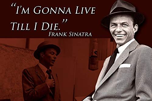 Frank Sinatra Quote Classroom Poster Rat Pack Growth Mindset Posters School Decorations Teaching Wall Art Motivational Inspirational Teacher Supplies Educational Learning Positive Teachers Quotes P025