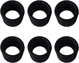FHelectronic Black Rubber Fishing Rod Holder Tackle Cap Kit fit for Rod Holder Pole Rest Rack Insert Protectors 1.5mm Wall