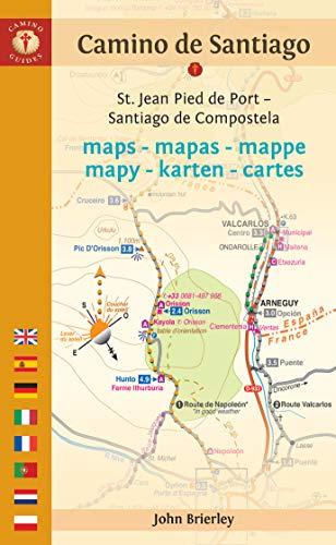 Camino de Santiago Maps: St. Jean Pied de Port - Santiago de Compostela (Camino Guides) (Dutch Edition)