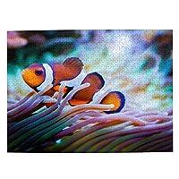 500ピース ジグソーパズル イソギンチャクとカクレクマノミ パズル 木製パズル 動物 風景 絵 ピクチュアパズル Puzzle 52.2x38.5cm