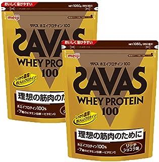 ザバス アクア ホエイプロテイン100 リッチショコラ 1050g(約50食分)×2個セット