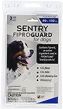 Sergeants Pet Care Prod 3 Count Sentry Fiproguard Dog Flea and Tick Squeeze-On Drop, 89-132 lb.