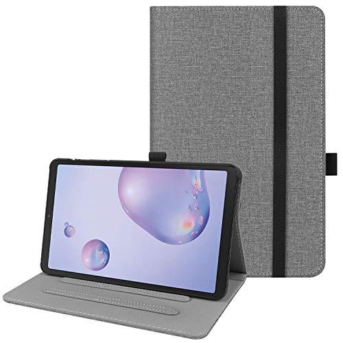 HoYiXi Custodia per Samsung Galaxy Tab A7 10.4 Pollici 2020 Ultra Slim Case in Pelle Cover con Supporto Funzione Custodia di Tablet per Samsung Galaxy Tab A7 2020 T500/T505 - Grigio