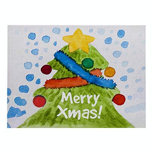 Kongtou Simple estilo de dibujos animados animal serie Navidad algodón y lino manteles individuales tela hogar cocina suministros occidental comida esteras mesa